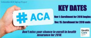 ACA Open Enrollment is NOW for 2018